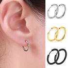 JZ_ Men Women Punk Stainless Steel Ear Hoop Circle Earrings Jewelry Gift Fashi