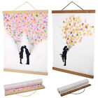 21/30/50cm Magnetic Wooden Photo Hanger Frame for Scroll Print Poster Picture gm