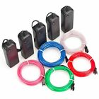 Neon Light Glowing EL Wire String Strip Rope Tube Dancer Party Decor Battery Box