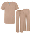Adar Women's Medical Nursing Doctor Scrub Set Uniform V-Neck Shirt & Pants