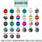 Heat Transfer Elastic Foil For Silhouette And Cricut 1ft 1, 2 and 5 Yards by 20""