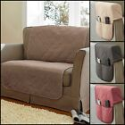 Quilted Cotton Fire Retardant Sofa Protector And Armcaps Range - Four Colours