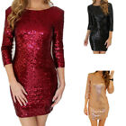 US Dress Sequins Long Formal Prom Dress Party Ball Gown Evening Bridesmaid Dress