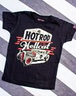 Hotrod Hellcat Lager Tee Kids Shirt Cool Cute Rockabilly Racer Fun Car Engine