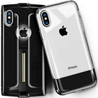iPhone X CASE FORCE Clear Best Cute Kickstand Heavy Duty Tempered Glass 2 pcs <br/> Bonus iPhone 1st Gen Inspired Case✔Tempered Glass 2pcs✔