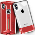 For iPhone X / XS Clear Case Cover and Case Cover with Kickstand Tempered Glass