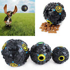 Pet Dog Cat Chew Food Dispenser Tough Sound Giggle Ball Toy Treat Training