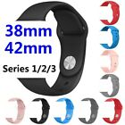 For Apple Watch Series 1 2 3 38 / 42mm Sports Silicone Bracelet Strap Band Cover