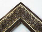 """2.3"""" Mayan Distressed Espresso Solid Wood Canvas Picture Frame-Custom Standard"""