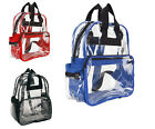 Touring Bag Unisex Transparent School Security Clear Backpack Book Bag Red Royal