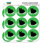 Black Cat Sitting on Feathers Planner Calendar Scrapbooking Crafting Stickers