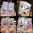 Custom-made Bling Quicksand Hourglass Soft Phone Dynamic Cover Case & strap #14