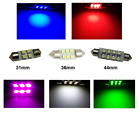 C5W Festoon SMD LED Bulb Interior Courtesy Light - 31mm 36mm 44mm All Colours