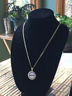 STERLING SILVER ROPE PENDANT W  NFL NEW YORK JETS c SETTING JEWELRY GIFT