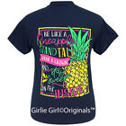 "Girlie Girl Originals ""Sweet Pineapple"" Navy Short Sleeve T-Shirt"