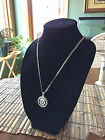 STERLING SILVER ROPE PENDANT W  NFL OAKLAND RAIDERS b SETTING JEWELRY GIFT