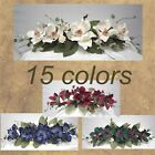Magnolia Swag Silk Flowers Arrangement, Artificial Floral with Hydrangea