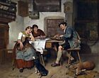 Musical entertainment by Adolf Eberle. Giclee Fine Art Reproduction Prints