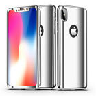 360 Plating Mirror Case For iPhone X 8 7 6 6S Plus Cover Full Protection Case