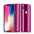 360 Plating Mirror Case For iPhone X 8 7 6 6S Plus Cover Full Protection Case  iphone x cases 360 protection 2326382590494040 1