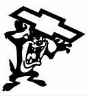"Tasmanian Devil Chevrolet VINYL Decals Sticker 9"" X 8""  BUY 2 GET 1 FREE"