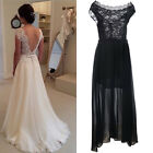 Women Ladies Summer Casual Sleeveless Party Evening Cocktail Lace Long Dresses