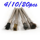 4/10/40Pc Horsehair Brass Wire Nylon Wheel Polishing BrushesSet Rust Cleaner