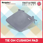 1/2/4/6 X Luxury Removable Tie On Chair Seat Cushions Pads Garden Dining Kitchen