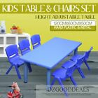 Large Kids Toddler Children Activity Table & 6 8 Same Colour Chairs 120x60cm L