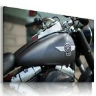 HARLEY DAVIDSON BLACK MOTOR BIKE Large Wall Canvas Picture ART  HD34 £21.24 GBP on eBay