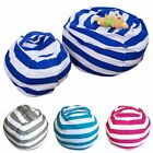 Kid Stuffed Animal Toy Cotton Bean Bag Storage Pouch Soft Stripe Fabric Chair GL