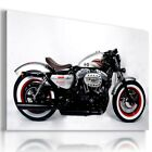 HARLEY DAVIDSON SILVER BLACK MOTOR BIKE Large Wall Canvas Picture  HD48  MATAGA £14.44 GBP on eBay