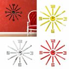 1Set Home Decor Mirror Wall Sticker 3D Numbers Clock Acrylic Mural Decal