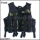 Deluxe CAMO TACTICAL VEST Paintball Harness w/ Movable Chest Pod Attachments