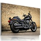 HARLEY DAVIDSON BLACK MOTOR BIKE Large Wall Canvas Picture ART  HD77 £14.44 GBP on eBay