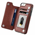 For iPhone X XS Max 8/7 Samsung S9+ Note 9 Leather Wallet Card Slot Flip Case