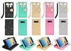 For Samsung Galaxy Note 8 Bling Diamonds Crystal Leather Flip Wallet Case Cover