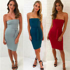 backless dresses uk - Women's Summer Bandage Bodycon Backless Evening Party Cocktail Club Mini Dress
