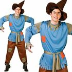 Adults Mens Scarecrow Fairytale Book Week Straw Oz Fancy Dress Costume Outfit