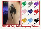 COSPLAY FAIRY TAILS ANIME temporary REALISTIC FULL TATTOO waterproof last 1WEEK+