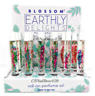Blossom Earthly Delight Roll On Perfume with Real Flowers 0.2oz-Choose Any Scent