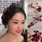 Bride Hair Headband Wedding Rhinestone Beads Flower Hair Accessories K0E1