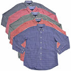 Tommy Hilfiger Buttondown Shirt Mens Long Sleeve Classic Fit Gingham Woven Top