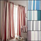 Hampton Stripe Lined Tape Top Curtains Range (Pair) - Various Sizes and Colours