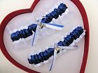 NEW Bridal Royal Blue Navy White Wedding Garters Homecoming Horse Cowgirl Farm