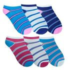 New GIRLS LADIES COLOURS Stripes TRAINER SOCKS One Size Pack Of 3 UK 4-7