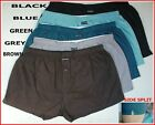 3or5 pairs MENS 100% COTTON WOVEN LOOSE FIT BOXER SHORTS UNDERWEAR PLAIN COLOURS