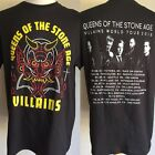 QUEENS OF THE STONE AGE (2018) Villains Concert Tour Dates T-Shirt Small & XL image
