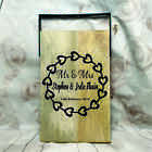 Engraved Chopping Board - Rustic Personalised Wedding Gift - 2 Sizes - Design 82
