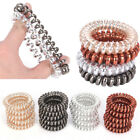 Rubber Telephone Wire Hair Ties Spiral Slinky Hair Elastic Bands Accessories